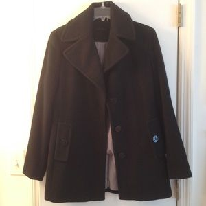 Calvin Klein black wool warm coat